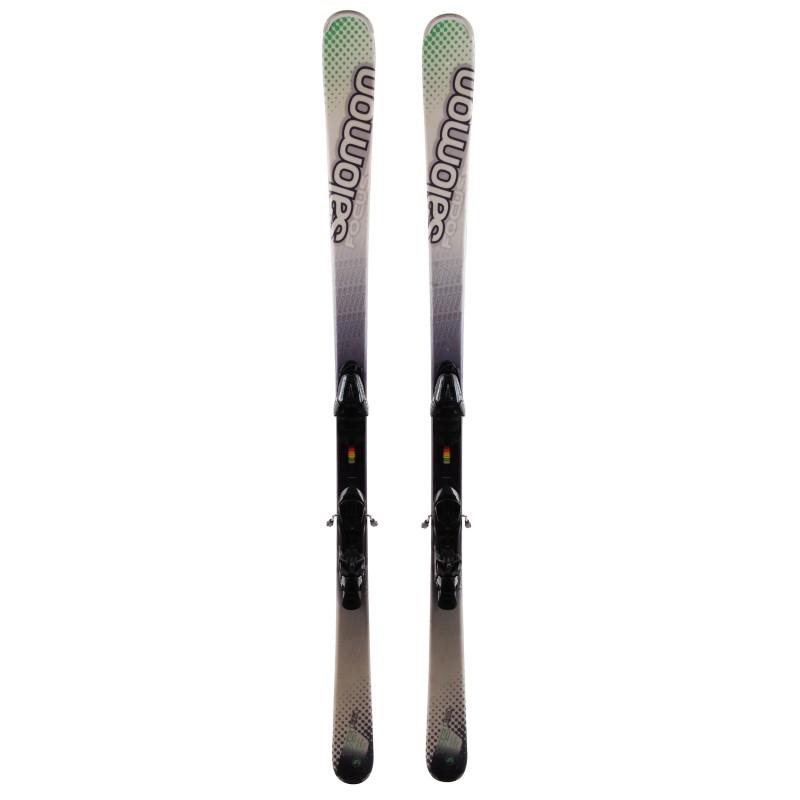 Salomon Focus grün weiß ski + Bindungen