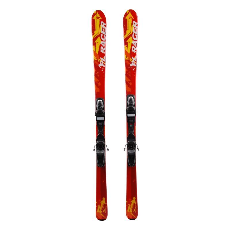 Junior Ski Pale Racer Amarillo Rojo + fijaciones