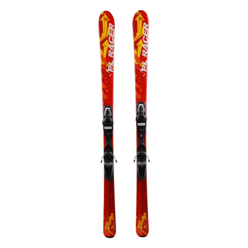 Junior Ski Pale Racer Yellow Red + bindings