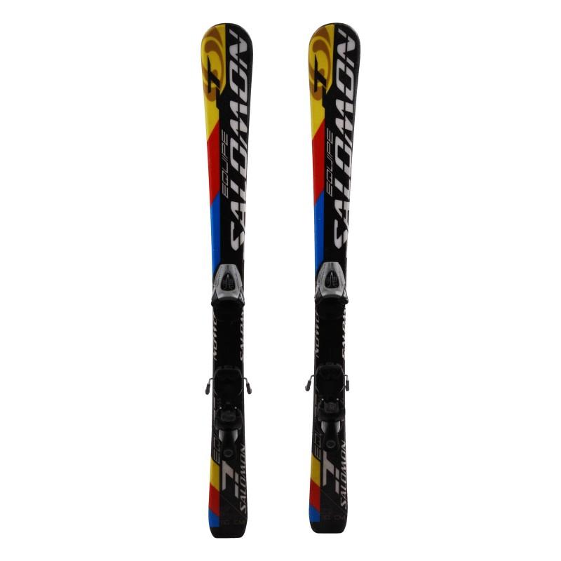Ski occasion junior Salomon Equipe T + fixations Qualité A