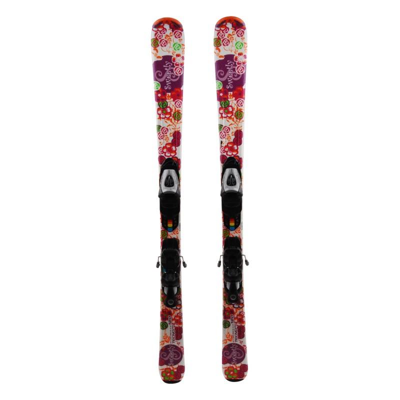 Junior ski Techno pro Sweetly + bindings