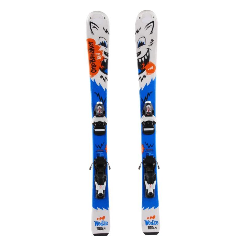 Ski occasion junior Wedze Onebreaker kids wolves - bindings