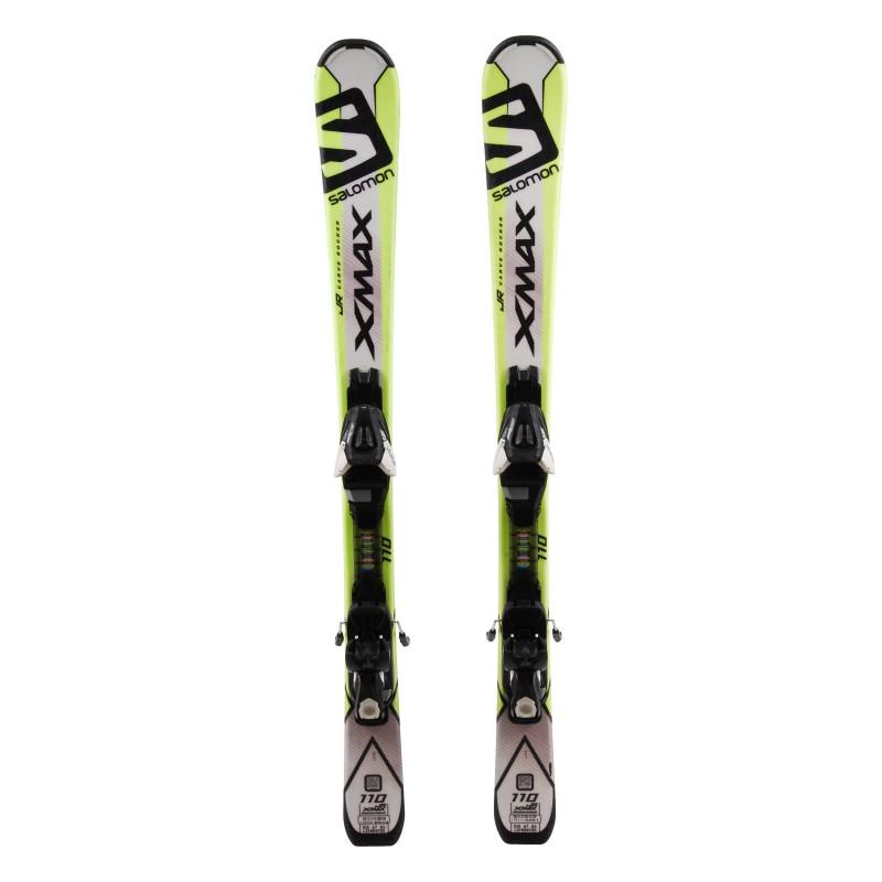 Ski occasion junior Salomon X-MAX Jr Qualité A + Fixations