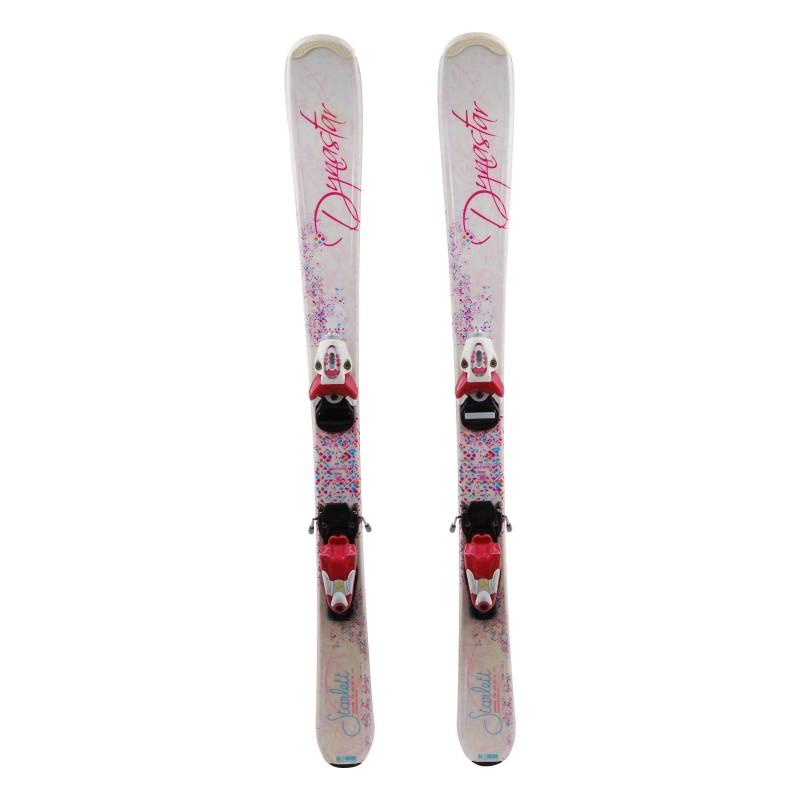Ski occasion junior Dynastar starlett paillettes Qualité A + fixations
