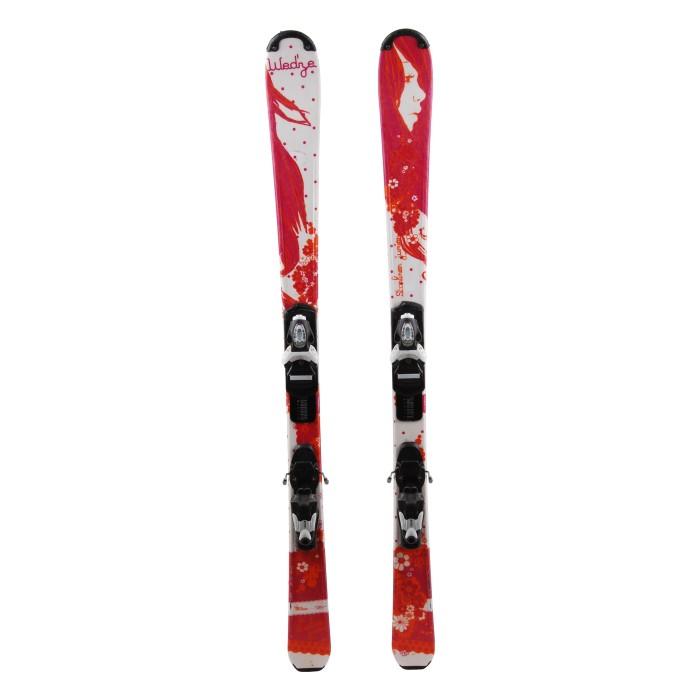 Junior ski Wedze Starliner pink / white + bindings