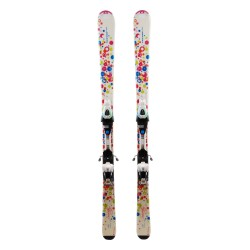 Ski occasion junior Tecno pro Sweety rond + fixations