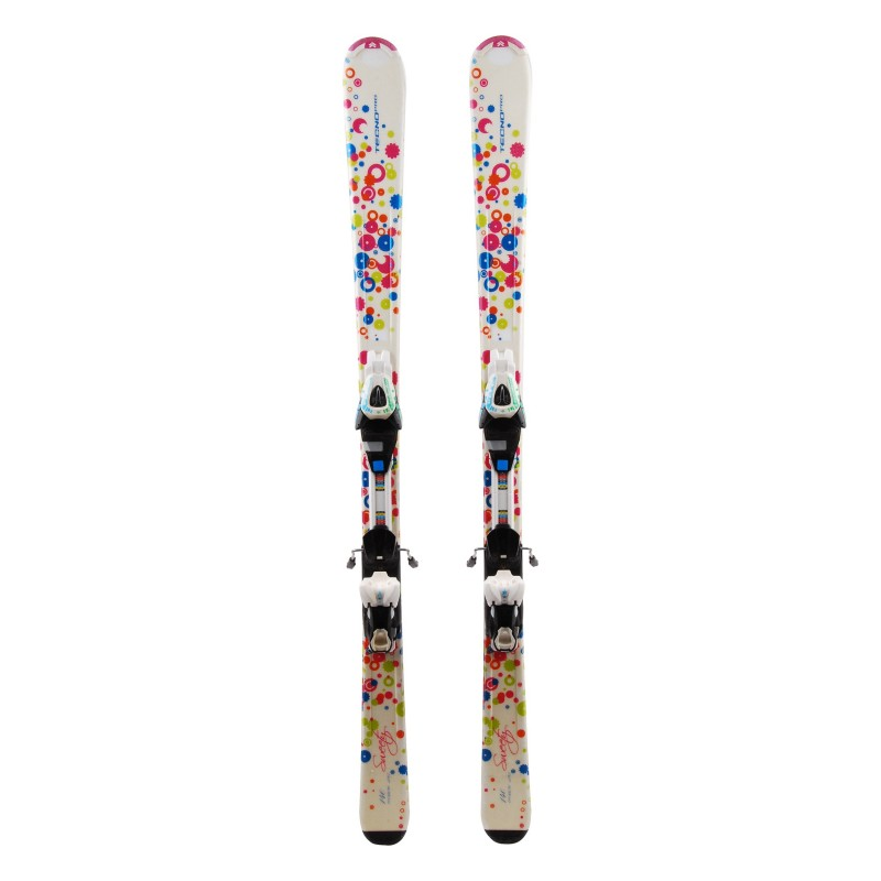 Ocasión de esquí junior Tecno pro Sweety ronda ' fijaciones