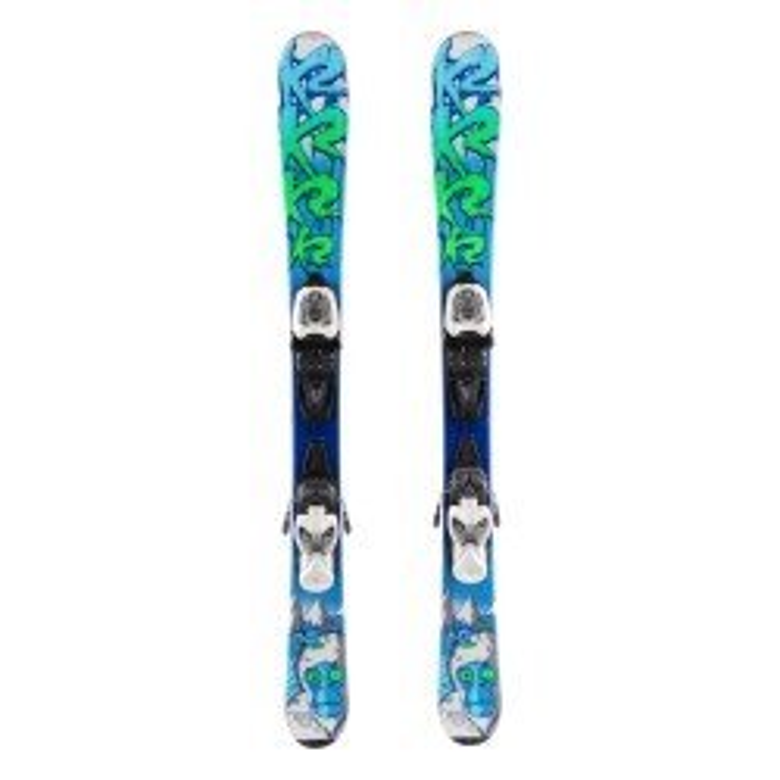 Ski occasion junior K2 Indy Yeti + fixations