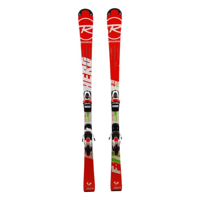 Ski occasion junior Rossignol hero FIS SL pro + fixations