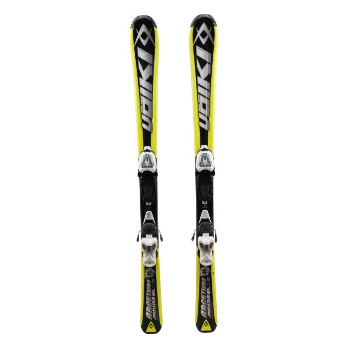 Ocasión de esquí junior Volkl racetiger SL - fijaciones