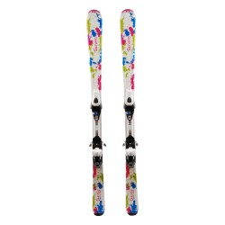 Ski occasion junior Tecno pro Sweety Peinture + fixations
