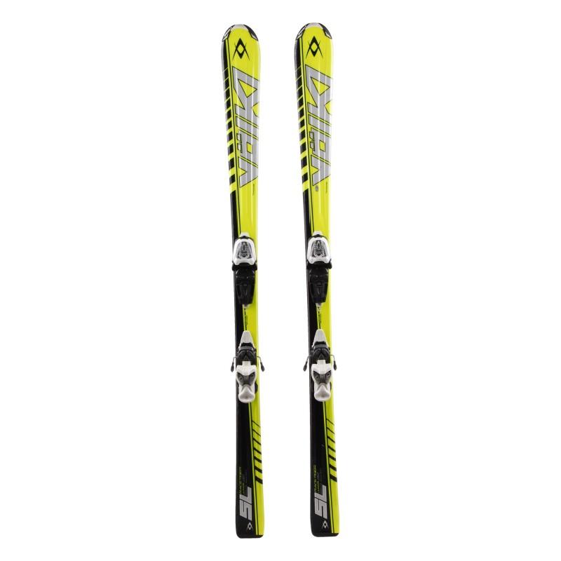 Ski occasion junior Volkl racetiger SL woodcore Qualité A + fixations