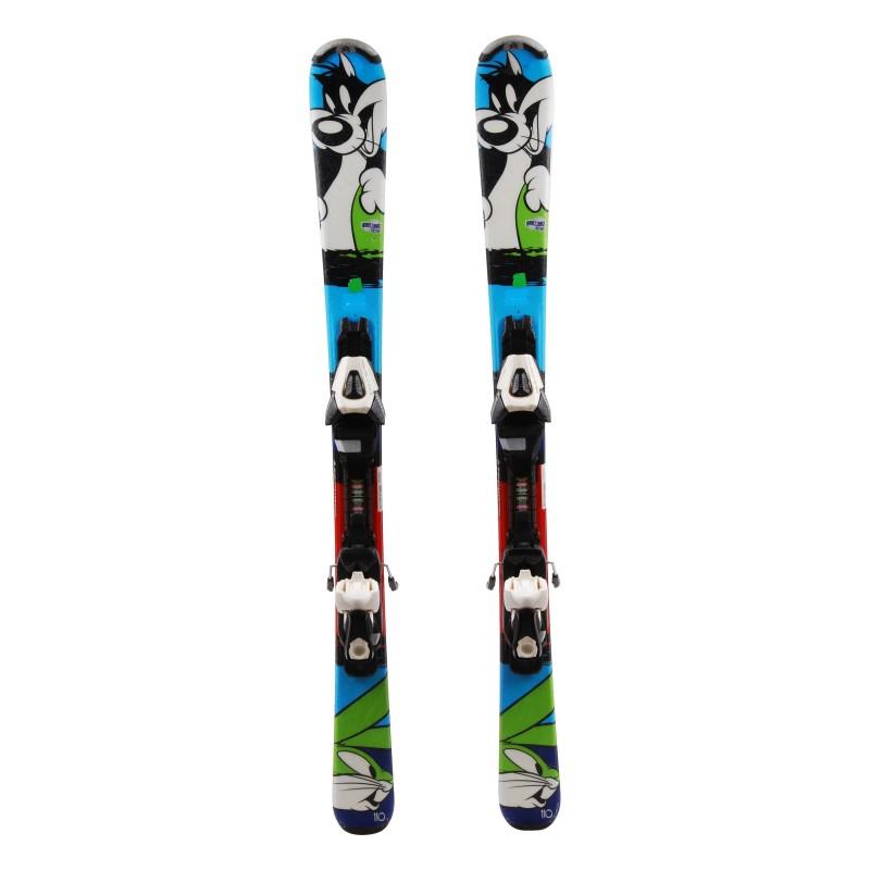 Ski occasion junior Tecno pro Looney Tunes Qualité A + fixations