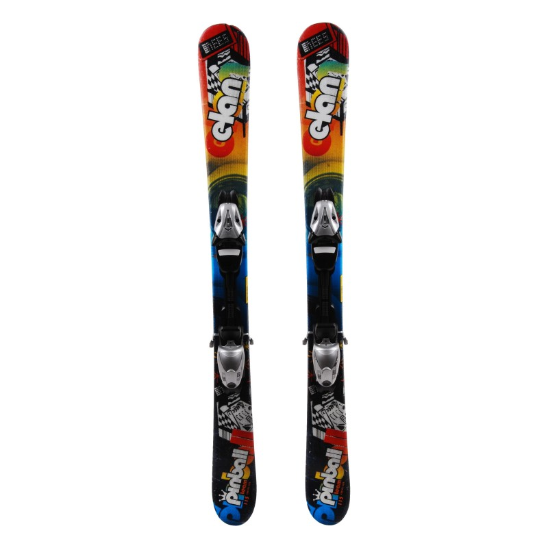 Ski occasion junior Elan Pinball Team Qualité A + fixations