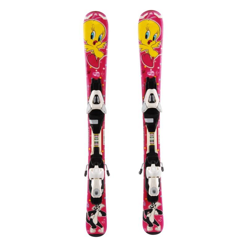 Ski occasion junior Tecno pro Looney Tunes Active Qualité A + fixations