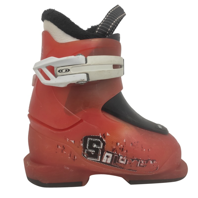 bota de esquí naranja Salomon Junior ST1