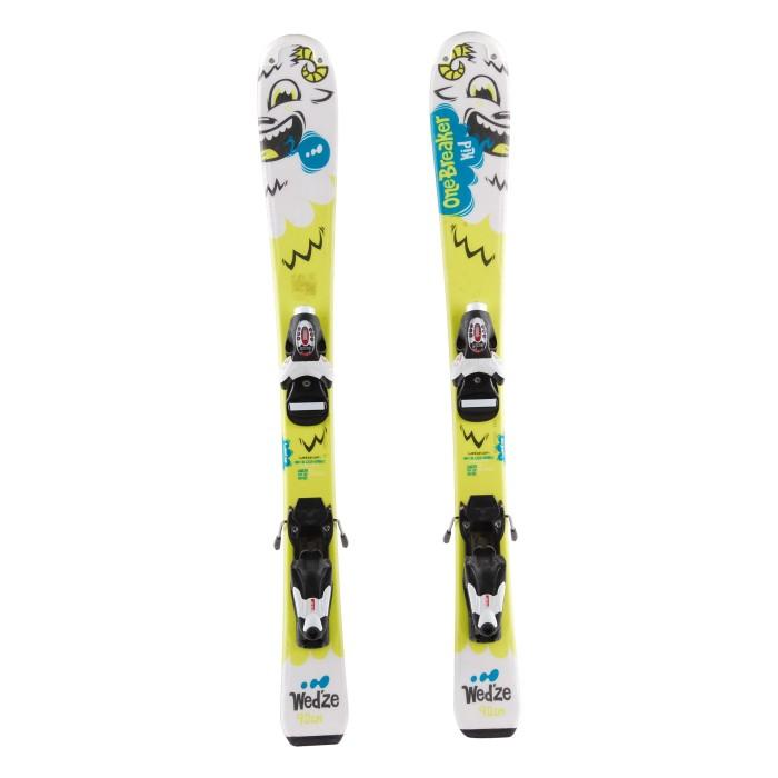 Ski occasion junior Wedze Onebreaker kids yéti vert + fixations