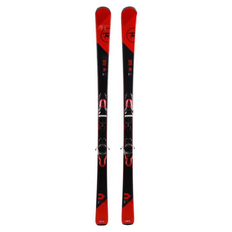 Ski occasion Rossignol Experience 75 Carbon noir rouge + fixations