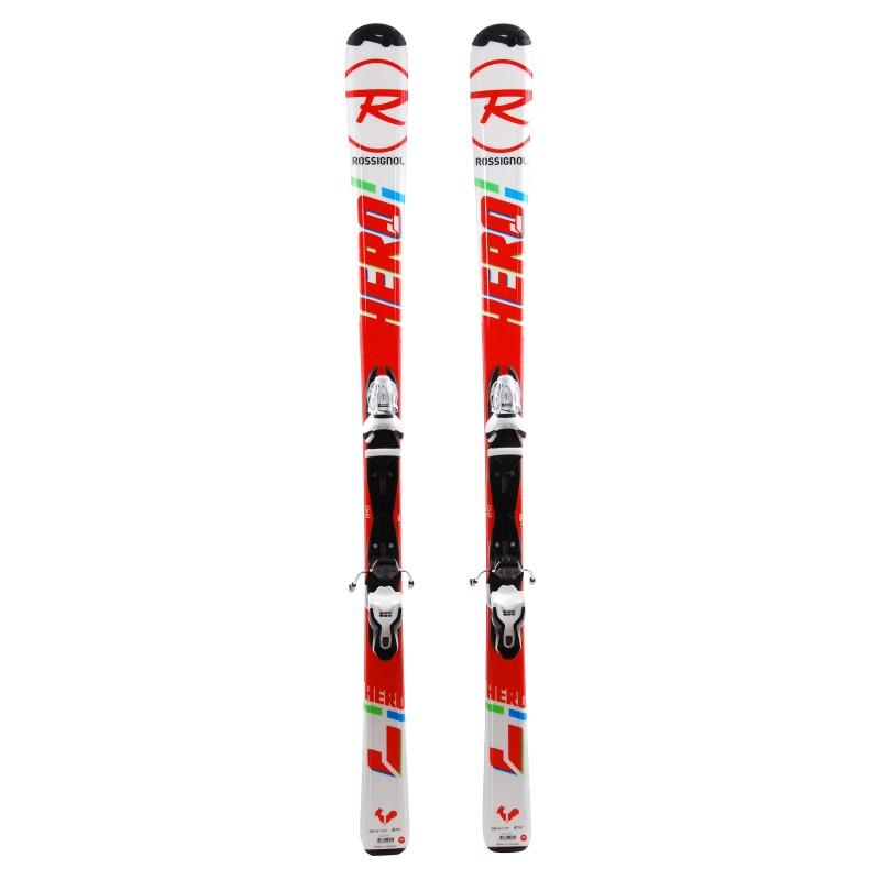 Ski occasion junior Rossignol Hero Jr Qualité A + fixations
