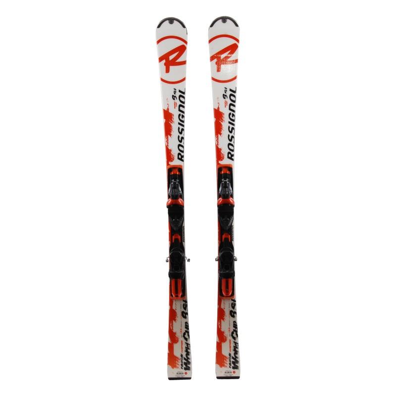 Ski Rossignol Radical 8SL WC orange weiß + Bindungen
