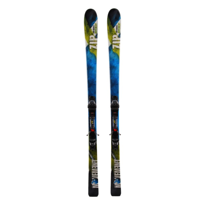 Ski Movement Zip grün + Bindungen