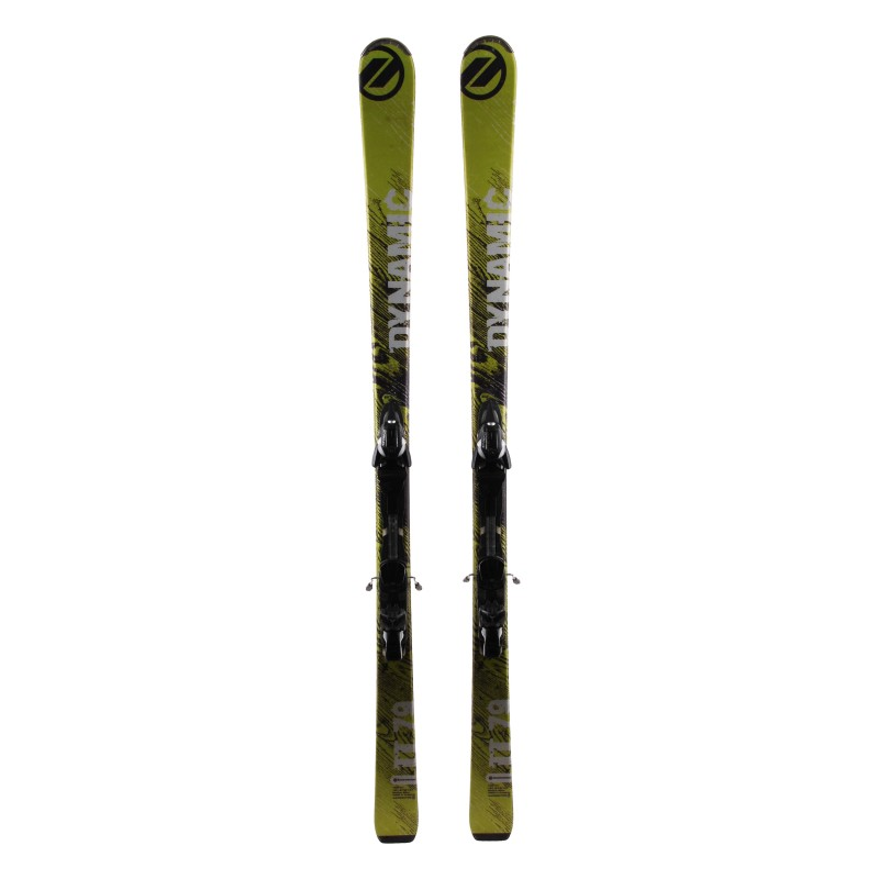 Skifahren Gelegenheit Dynamic TT 79 grün + Bindungen