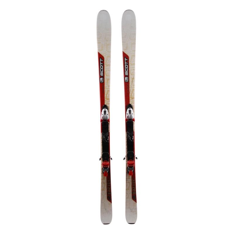 esquí Scott Aztec gris rojo + fijaciones