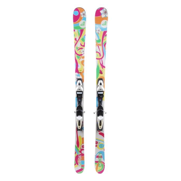 Ski occasion Roxy fleurs + fixations