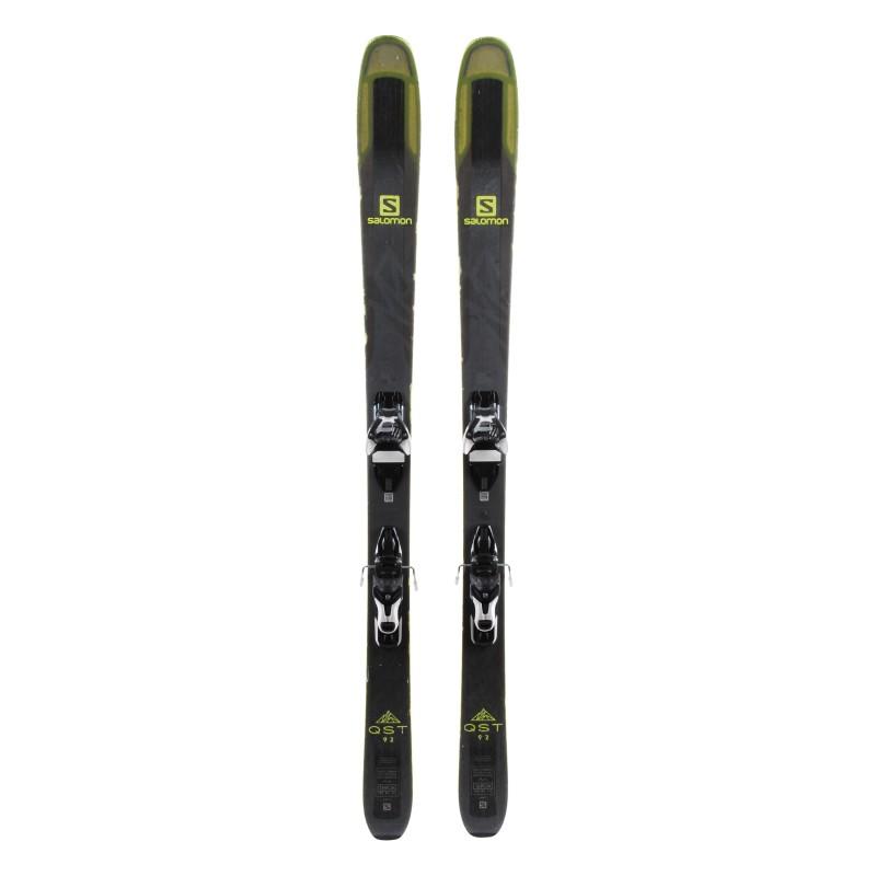 Ski Salomon QST 92 occasion Qualité B + fixations