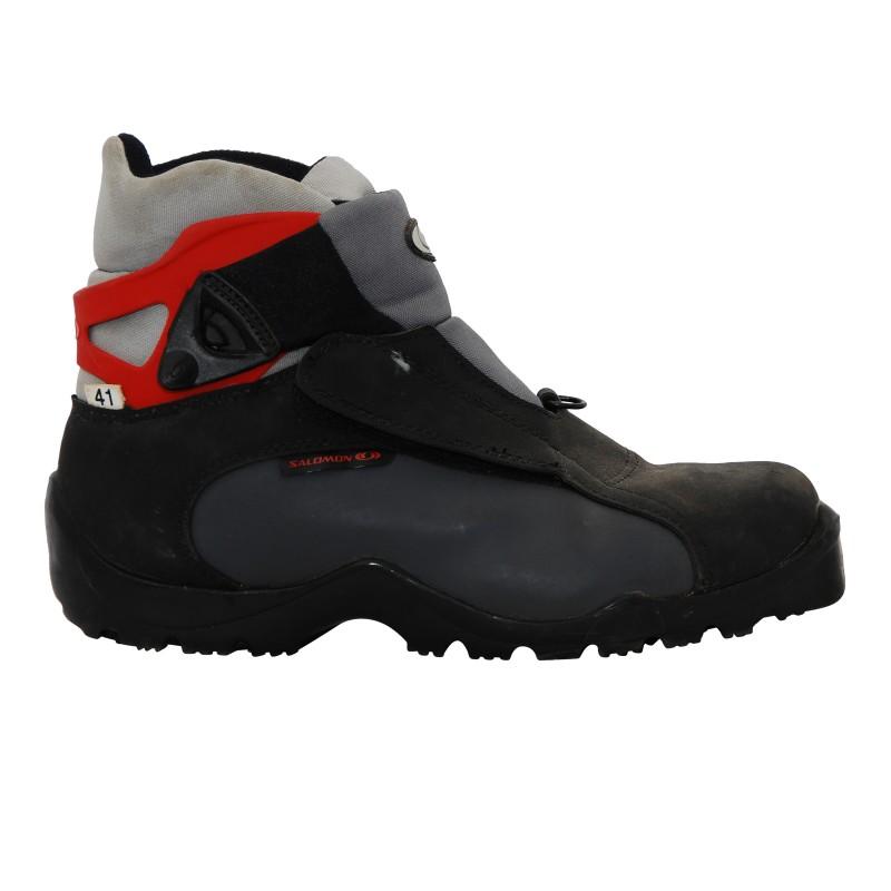 Chaussure ski fond occasion Salomon escape noir gris rouge Qualité A