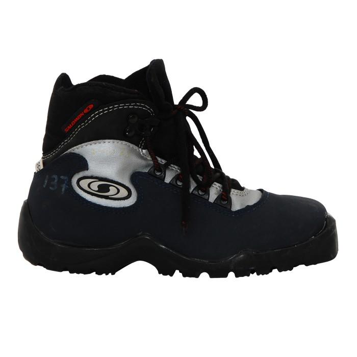 Used ski bottom blue Salomon ski boot