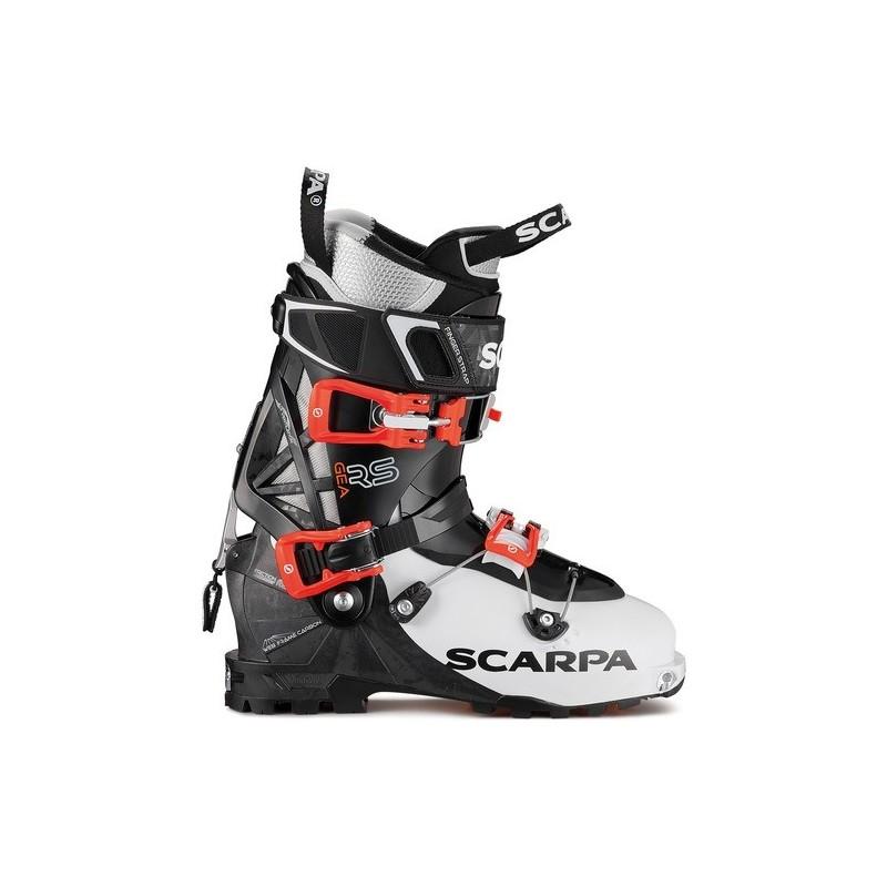 Black and Green Scarpa Pegasus Touring Ski Boot