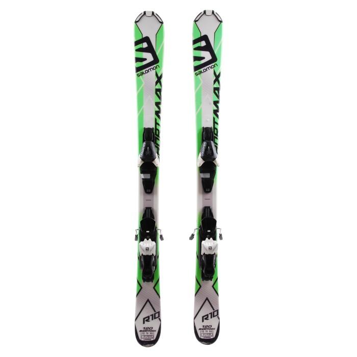 Mini Ski occasion Salomon short max + fixations