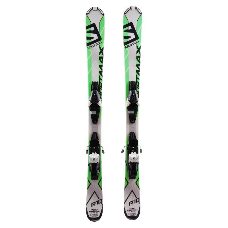 Mini Ski occasion Salomon shortkart + fixations Qualité A