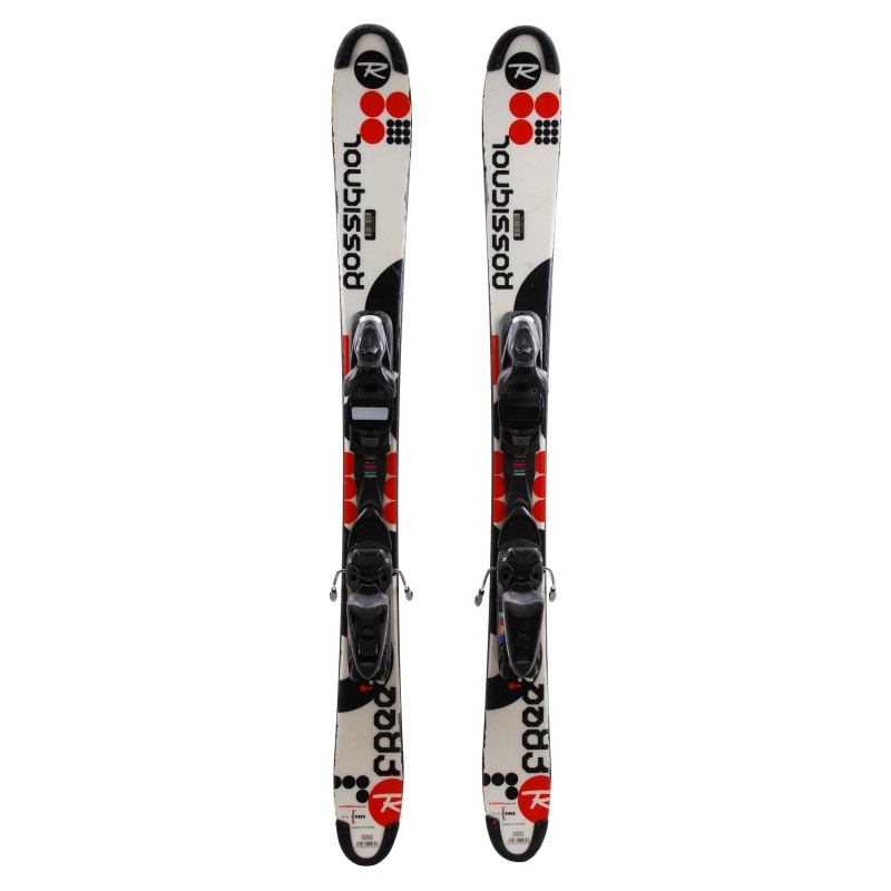 Mini ski occasion Rossignol Scratch Free ZB + fixations Qualité B