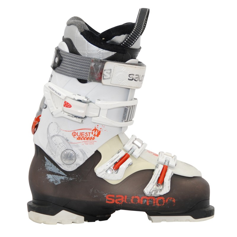 Chaussure de ski Occasion Salomon quest access w noir/blanc qualité A