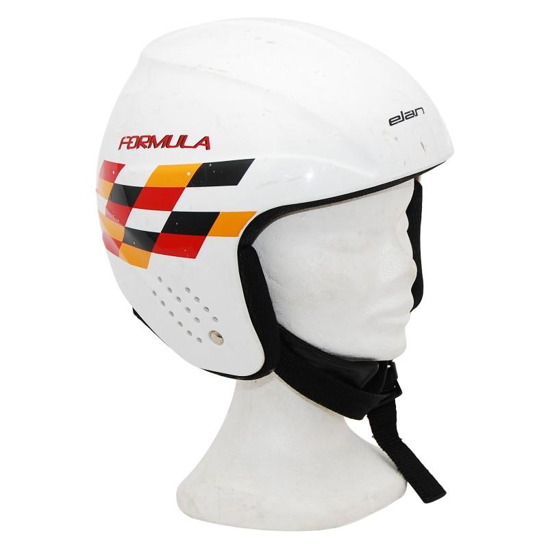 Casque ski occasion junior Elan formula blanc/ orange/ rouge