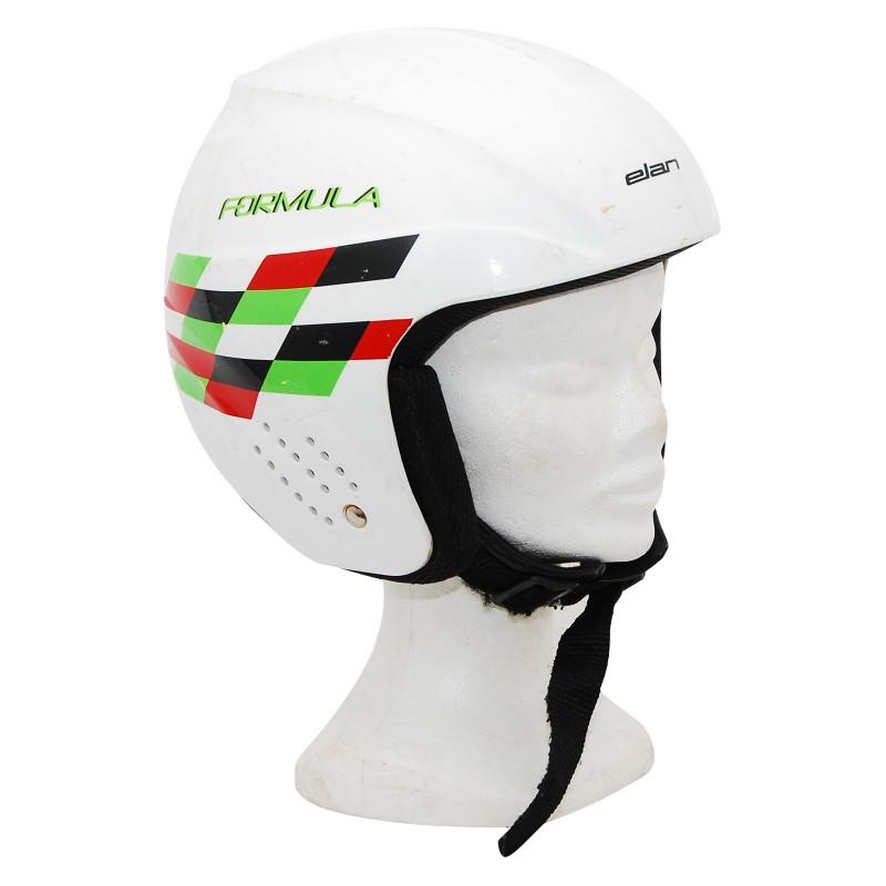 Casque ski occasion junior Elan formula blanc/ vert / rouge