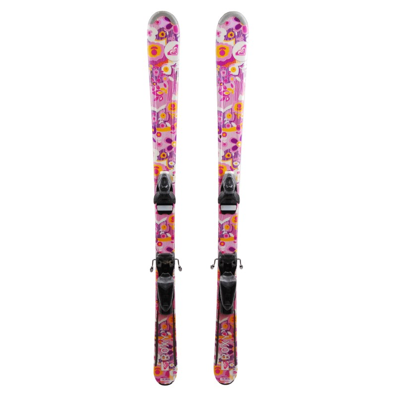 Ski occasion junior Roxy Fleurs Qualité B + fixations