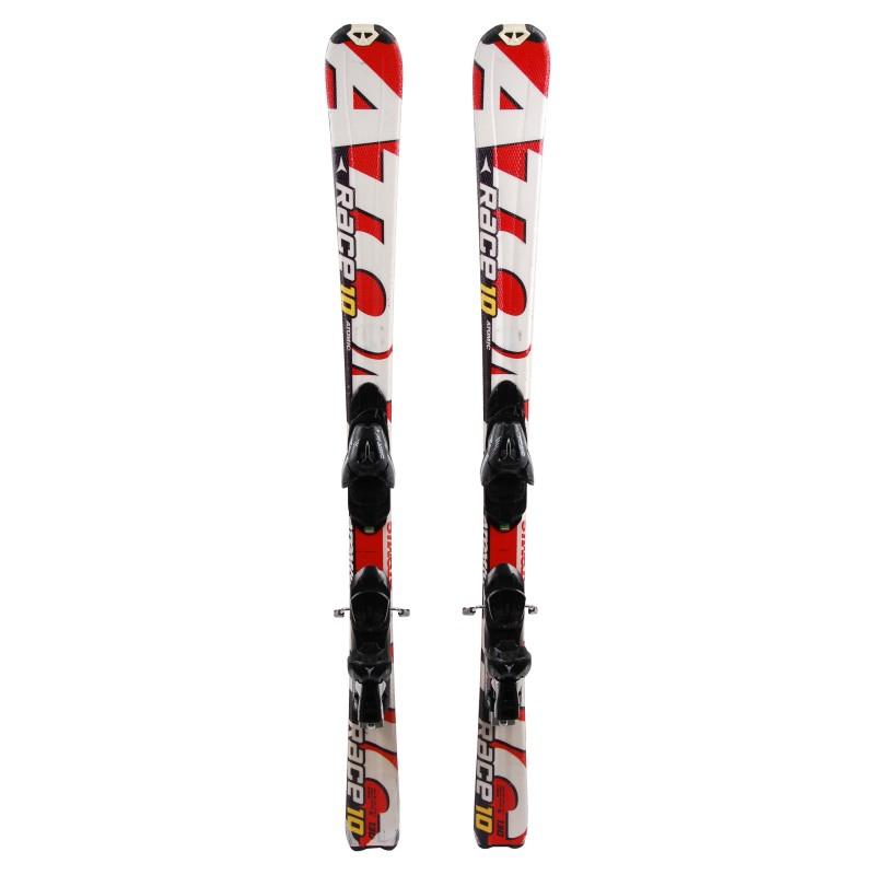 Junior ski Atomic race 7/8/9/10 Red / White + bindings