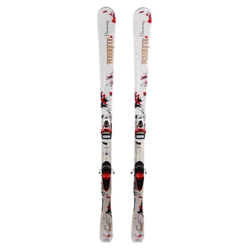 Esquí Rossignol Harmony 2 blanco / rojo + fijaciones