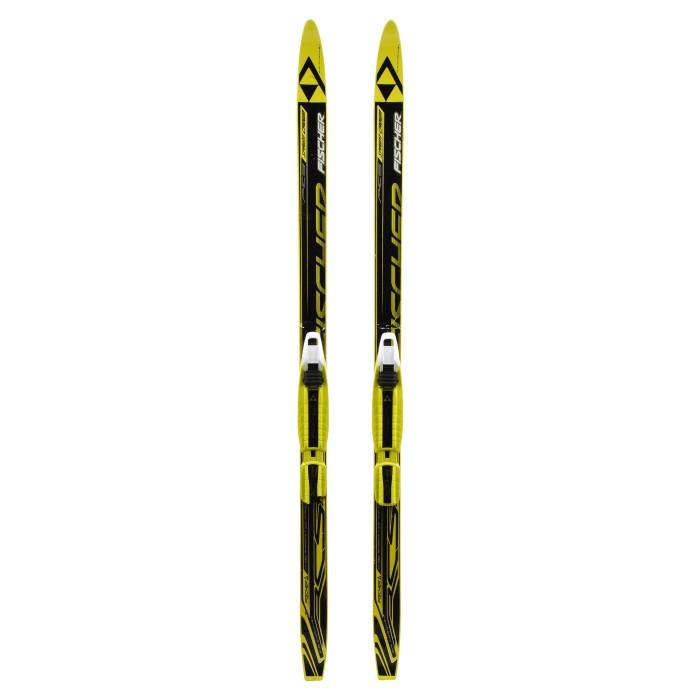 Fischer RCS Sprint Crown Junior Langlaufski schwarz + Standard NNN-Mount