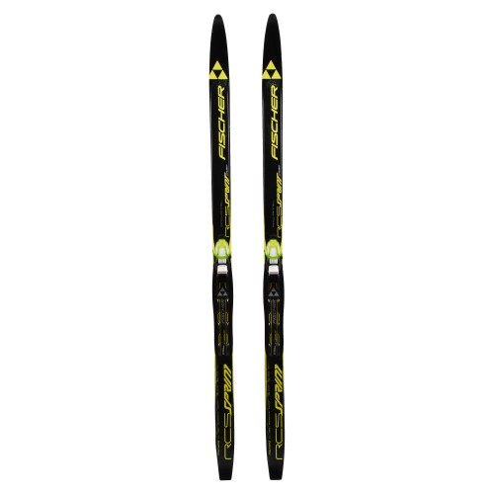 Esquís de fondo junior Fischer RCS Sprint Crown air chanel + fijaciones NNN