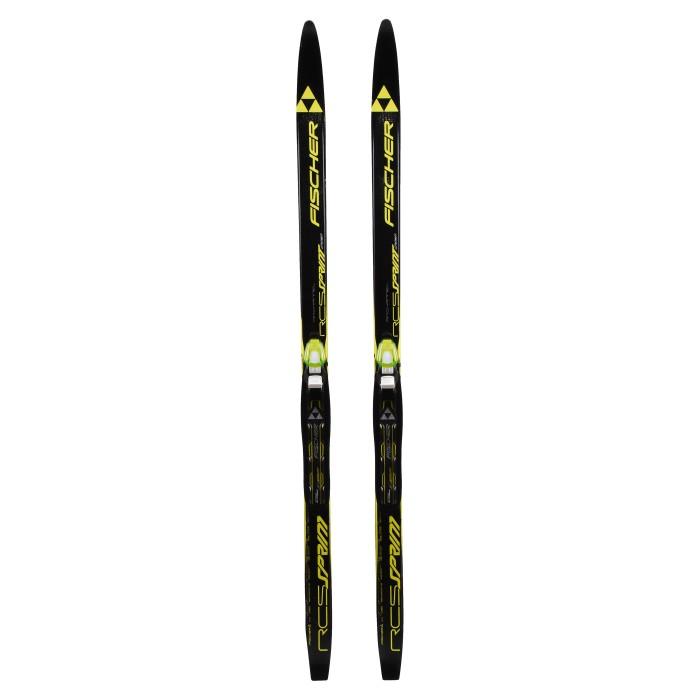 Ski de fond occasion junior Fischer RCS Sprint Crown air chanel + fixation NNN