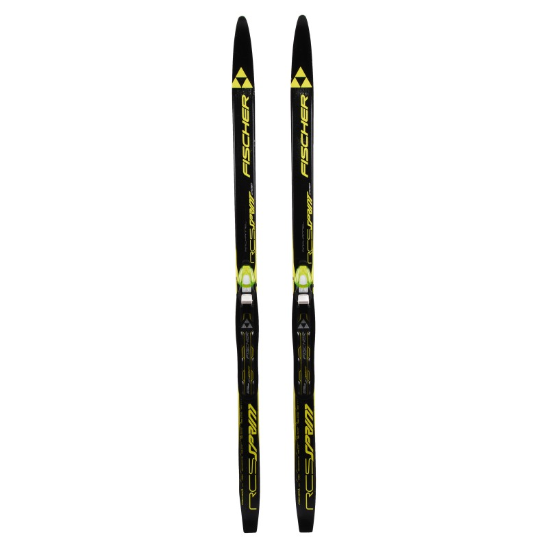 Ski de fond occasion Fischer RCS Sprint Crown air chanel + fixation norme NNN