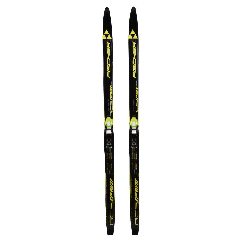Ski de fond occasion Fischer RCS Sprint Crown air chanel + fixation norme NNN