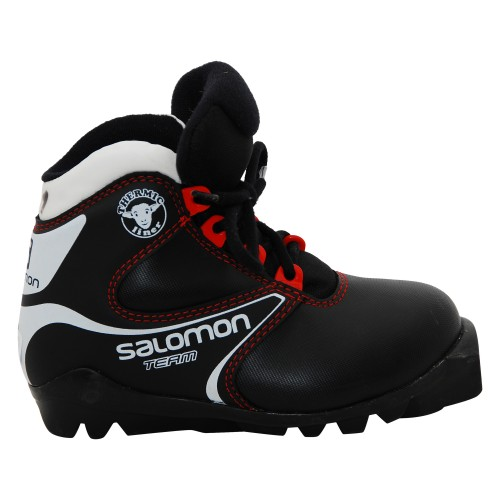 Chaussure ski fond occasion Salomon team jr noir