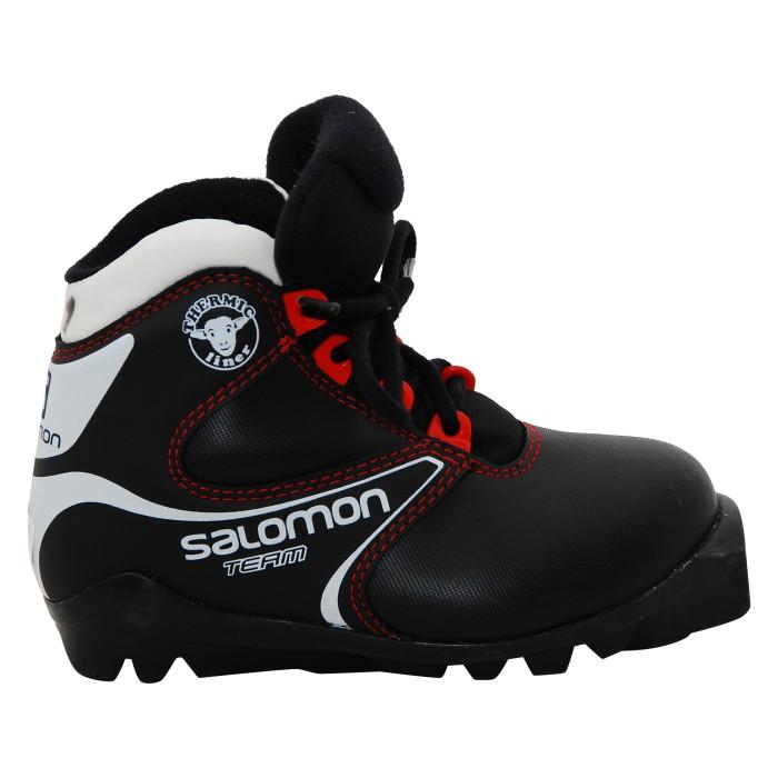 Skiskischuh gebraucht Salomon team jr black
