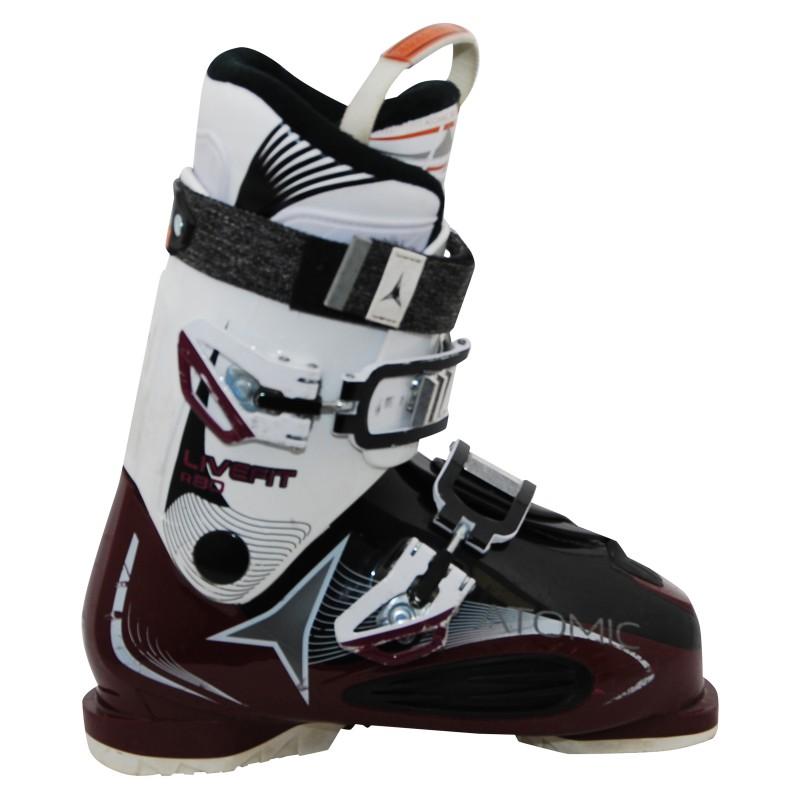 Chaussures de ski occasion Atomic live fit plus blanc/violet qualité A