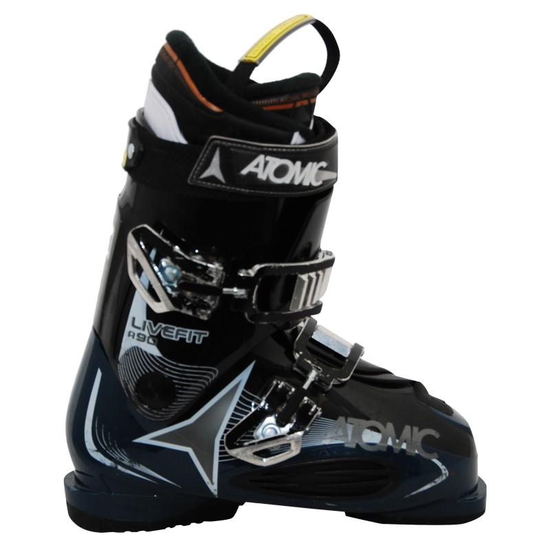 Chaussures de ski occasion Atomic live fit R90 noir/bleu qualité A